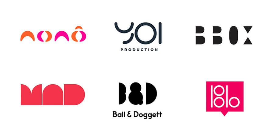 Letras geométricas - Logos 2020